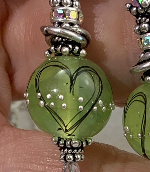Chartreuse Love Long Lariat Artisan Necklace-