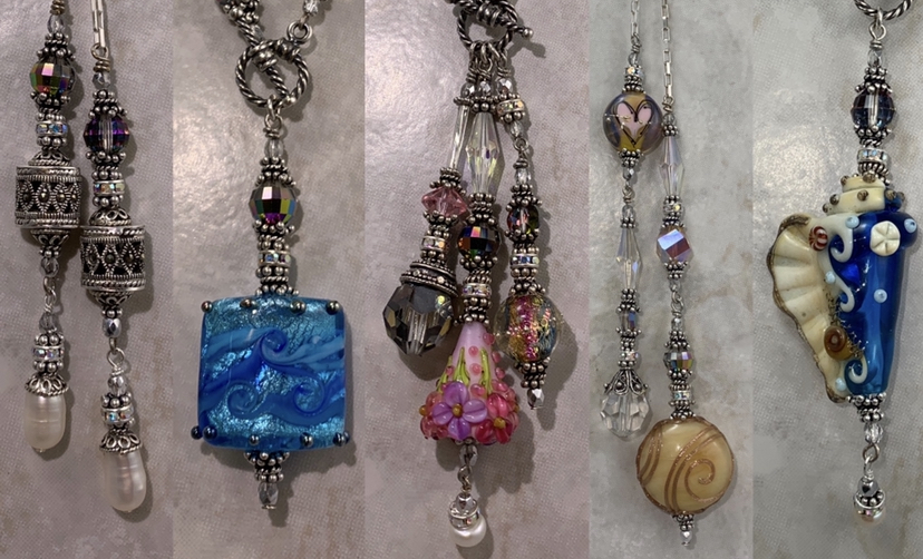 Art Glass Necklaces by Sue Shefts Designs