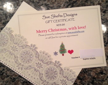 Sue Shefts Designs Gift Certificate