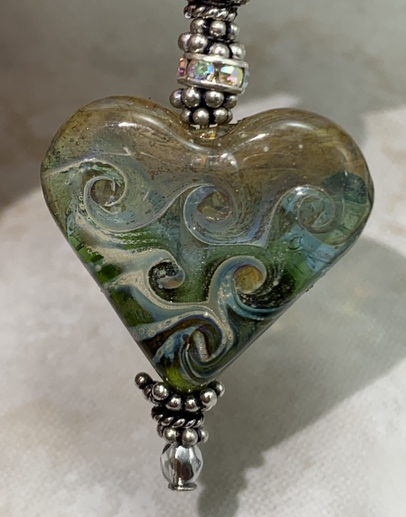 Swirled Heart of the Forest Artisan Necklace-