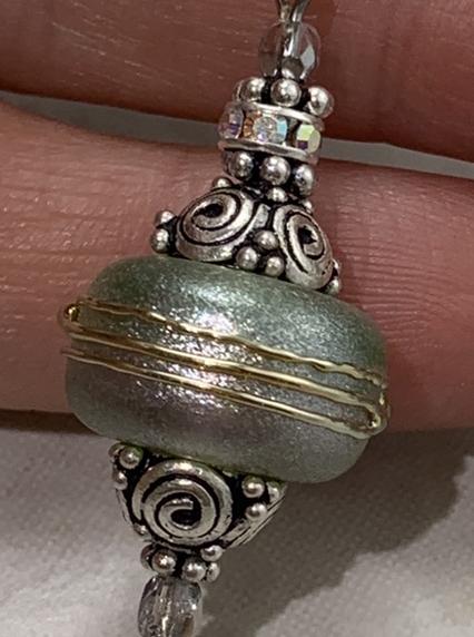 Sparkly Green Shimmer Earrings-