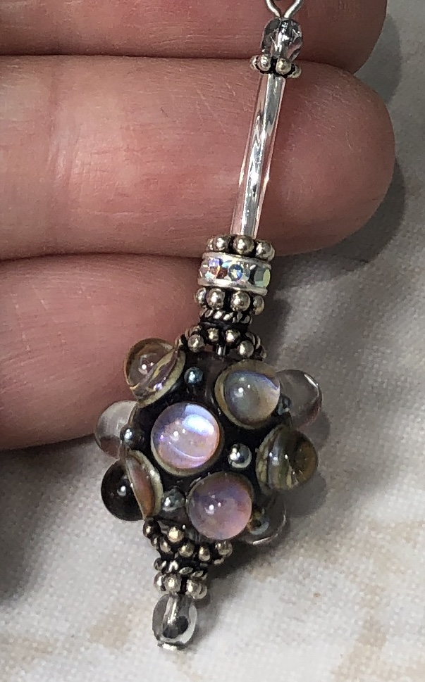 Beautifully Perfect Dots Artisan Glass and Sterling Earrings-