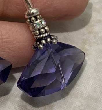 Purple Dangle Sparkle Earrings!-