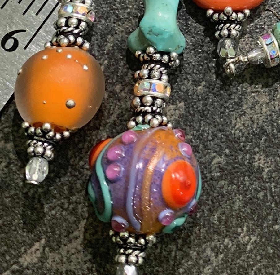 Summer Sorbet TRIOS Artisan Necklace-