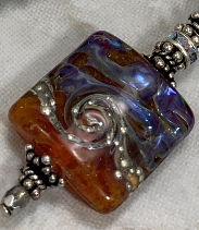 For SL -- Tequila Sunrise Warm Beauty Artisan Glass Bracelet-