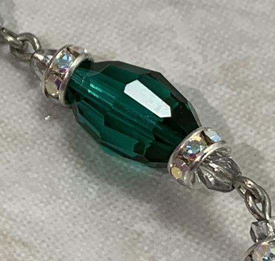 Emerald Green Vintage Swarovski Crystal Super Dangly Earrings-
