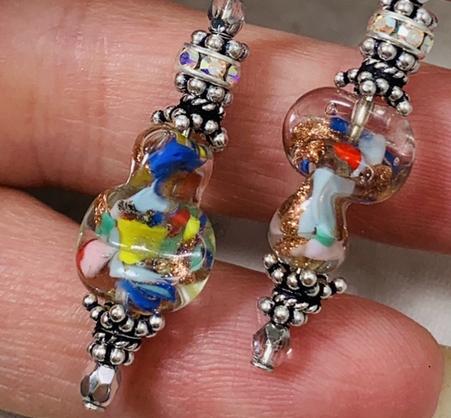 Aventurina Colorful Twist Sparkle Earrings!-