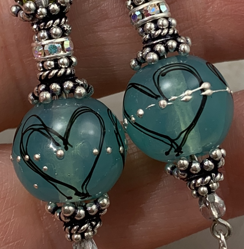 Artisan Spring Aqua Blue Long Lariat Necklace-