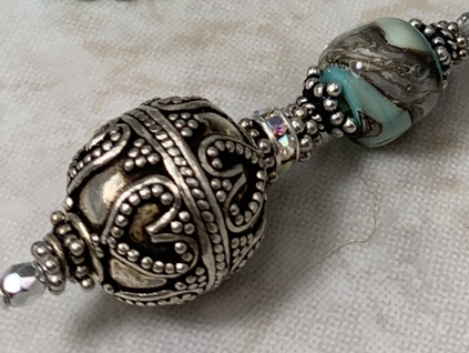 Aqua Shimmer Artisan Necklace-