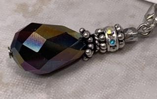 Faceted Shimmery Swarovski Teardrops Earrings-