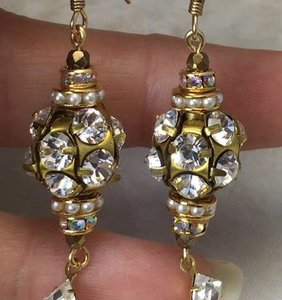 Elegant B L I N G Vintage Earrings-Elegant B L I N G Vintage Earrings