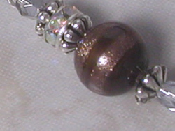 Swirled Goldstone on Chocolate! Earrings-
