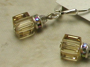Topaz Brown Swarovski Crystal Earrings-