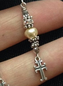 Crosses & Pearls Earrings