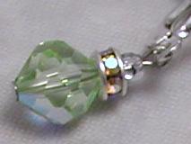 Spring Green Vintage Swarovski Crystal Earrings-