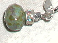Mossy Stone Crystal Drop Earring-