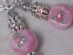 Sweet Pink Flower Earrings-