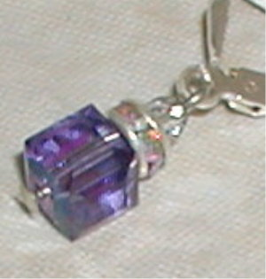 Purple Swarovski Cubes-