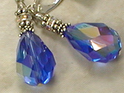 Sapphire Facets Teardrop Earrings-