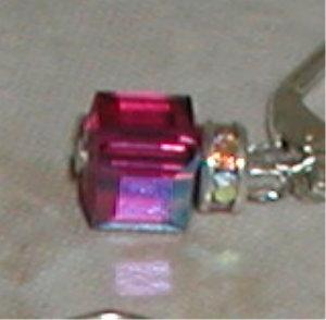 Hot  Pink Swarovski Cubes!-