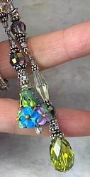 A Glorious Floral Necklace, Lariat Effect with Toggle Clasp-