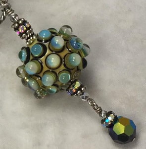 Amazing Art Dots of Teal and Jet Necklace-Sue Shefts, Johns Creek, Johns Creek Georgia, vintage jewelry, Swarovski, new design, gifts for her,