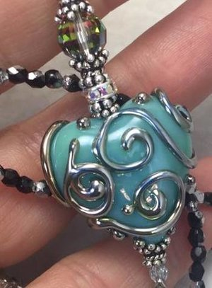A Lovely Scrolled TuRqUoISe LOVE Artisan Necklace-