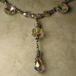 Fancy Crystal Flowers!-special occasion, bridal jewelry, bride necklace, fancy jewelry, crystal jewelry, vintage Swarovski